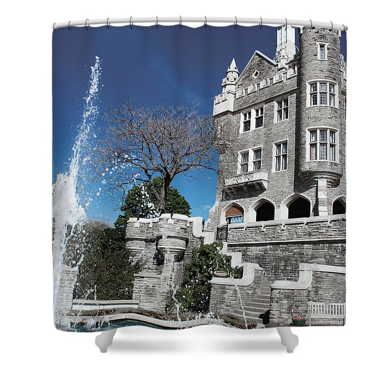 Casa Loma Shower Curtain featuring the photograph Casa Loma Series 02 by Carlos Diaz