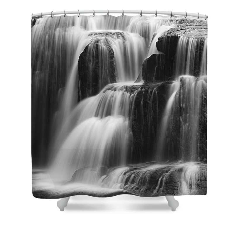 Autumn Shower Curtain featuring the photograph Cascades Of Lower Lewis Falls by Mark Kiver