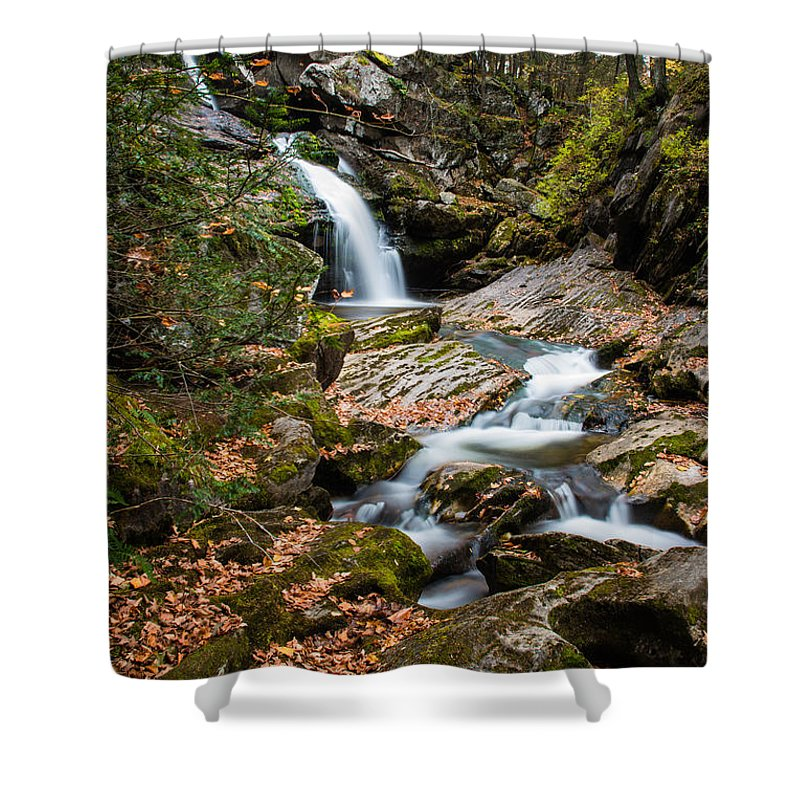 Kent Falls State Park Shower Curtain featuring the photograph Cascading Falls by Geoffrey Bolte
