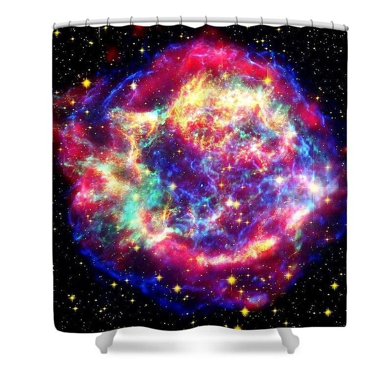 Nasa Shower Curtain featuring the photograph Cassiopeia by Benjamin Yeager
