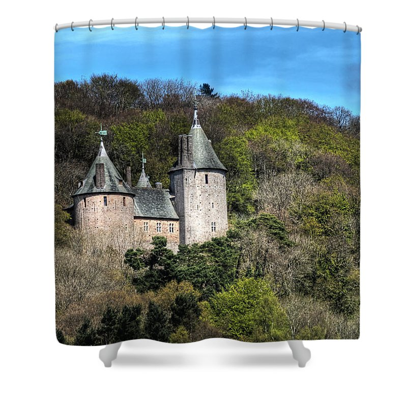 Castell Coch Shower Curtain featuring the photograph Castell Coch Cardiff by Steve Purnell
