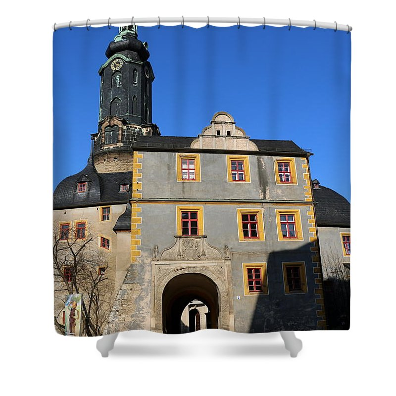 Castle Shower Curtain featuring the photograph Castle Church Weimar by Christiane Schulze Art And Photography