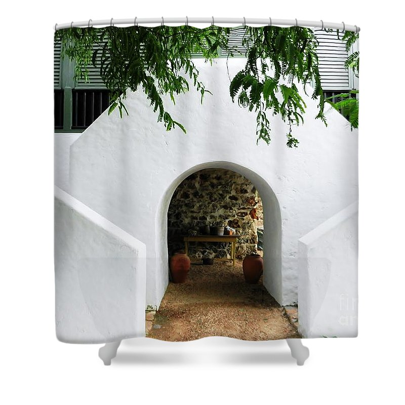 Color Shower Curtain featuring the photograph Castle Entrance by Amar Sheow