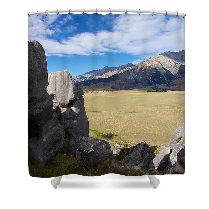 New Shower Curtain featuring the photograph Castle Hill #5 by Stuart Litoff