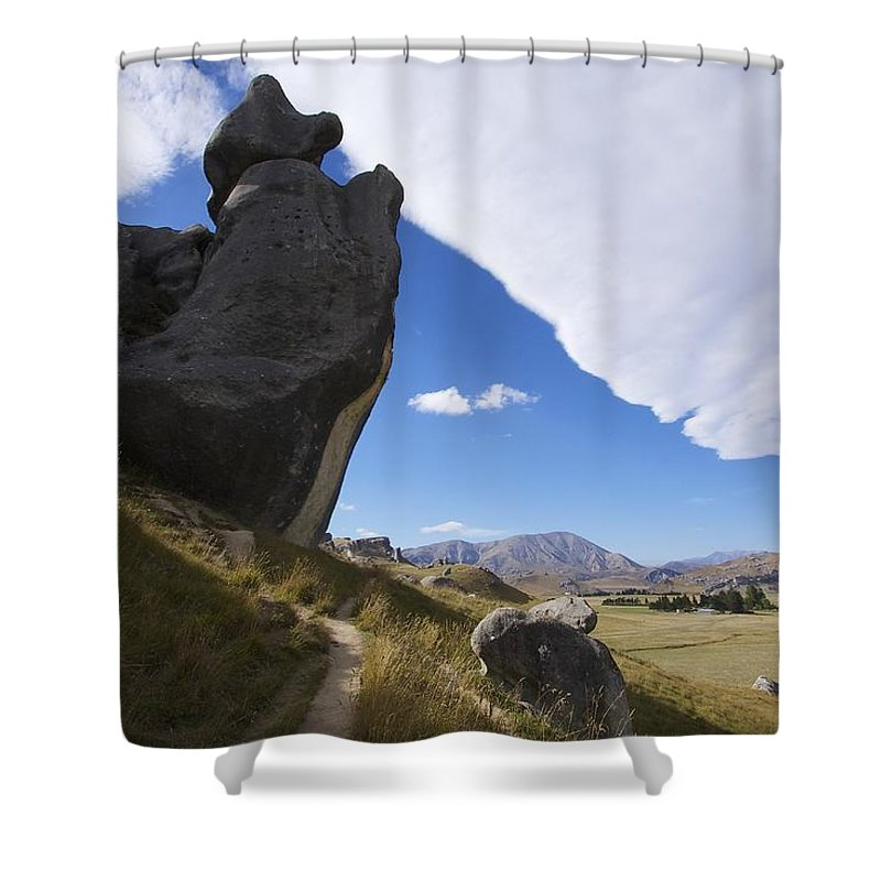 New Shower Curtain featuring the photograph Castle Hill #7 by Stuart Litoff