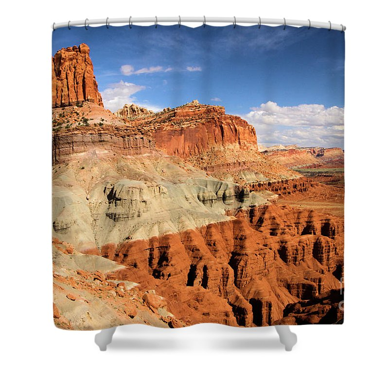 Castle Shower Curtain featuring the photograph Castle In The Sky by Adam Jewell
