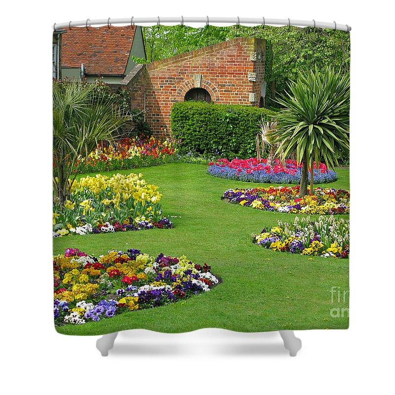 Garden Shower Curtain featuring the photograph Castle Park Gardens by Ann Horn
