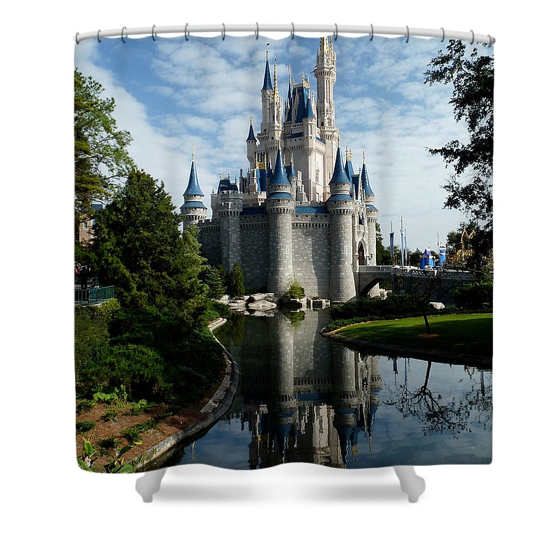 Medium Castle Decoration: Castle Reflections Shower Curtain For Sale By Nora Martinez