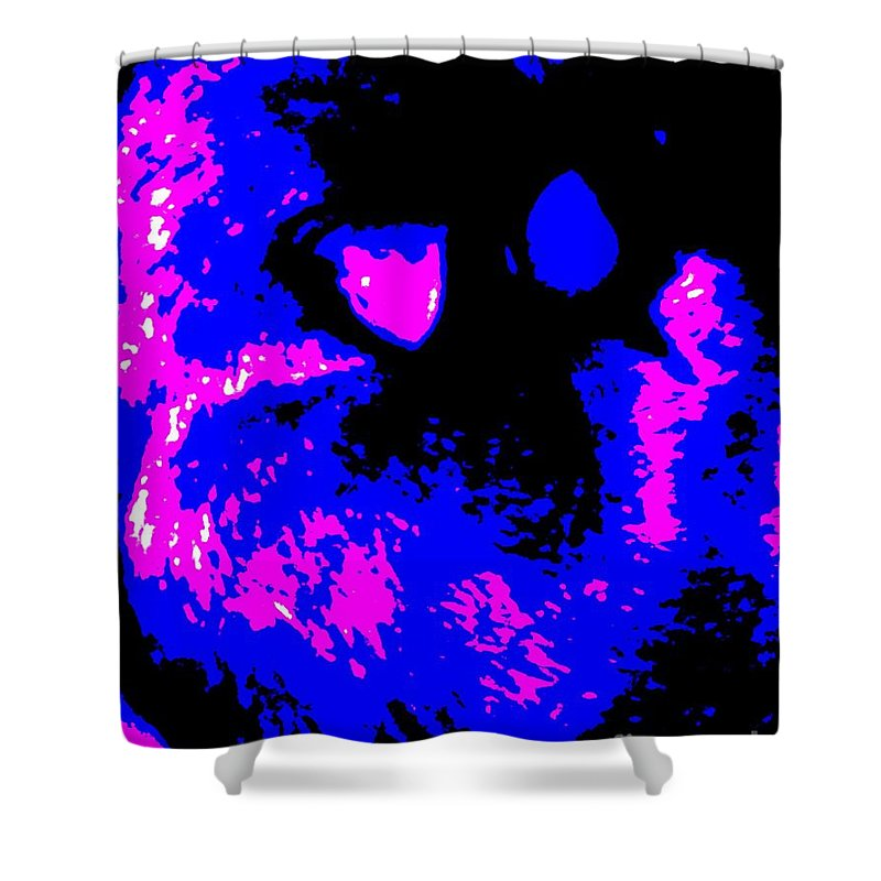 Blue Shower Curtain featuring the photograph Cat Abstract by Eric Schiabor