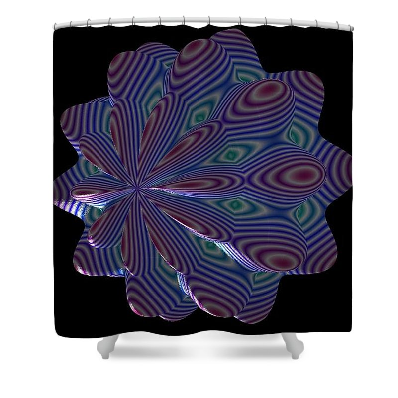 Fractal Shower Curtain featuring the painting Cat Toy by Bruce Nutting