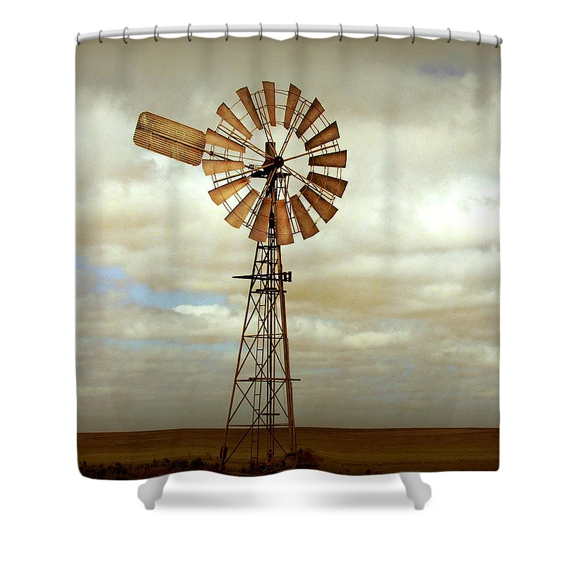 Windmill Shower Curtain featuring the photograph Catch the Wind by Holly Kempe