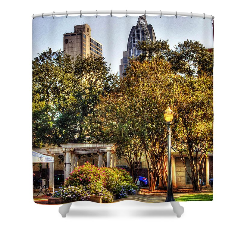 Alabama Shower Curtain featuring the digital art Cathedral Sq. And Rsa by Michael Thomas