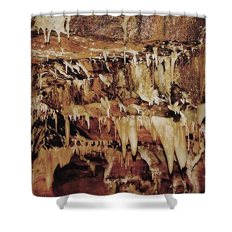 Caverns Shower Curtain featuring the photograph Cavern Beauty by Dan Sproul