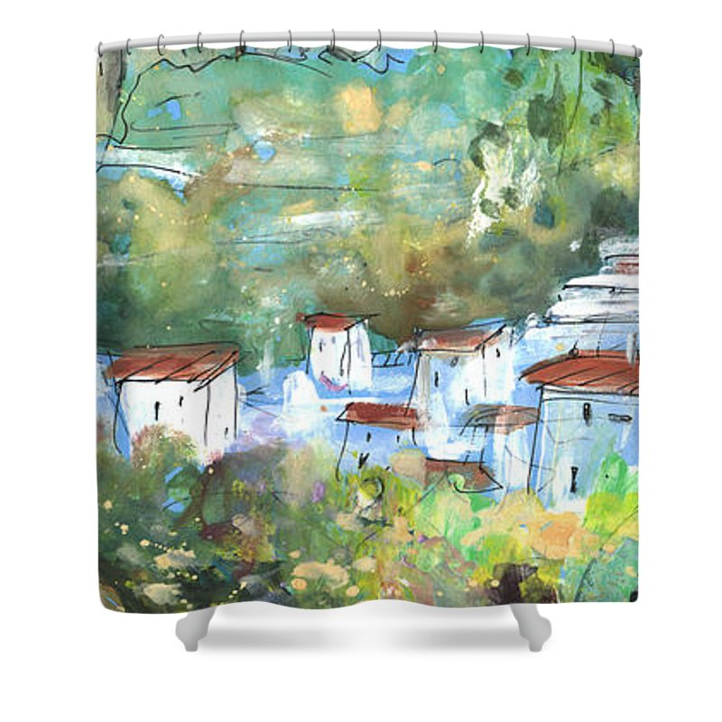 Travel Shower Curtain featuring the painting Cazorla 03 by Miki De Goodaboom