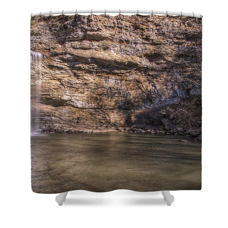 Waterfall Shower Curtain featuring the photograph Cedar Falls At Petit Jean State Park - Arkansas by Jason Politte