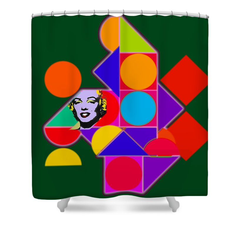 Home Shower Curtain featuring the painting Celebrity Squares by Charles Stuart