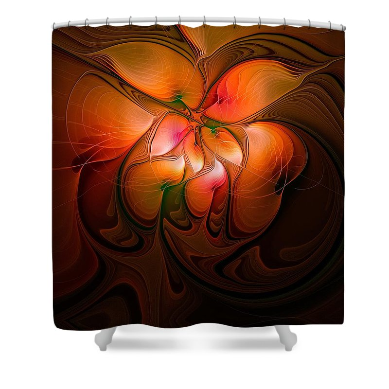 Digital Art Shower Curtain featuring the digital art Celestial Callas by Amanda Moore