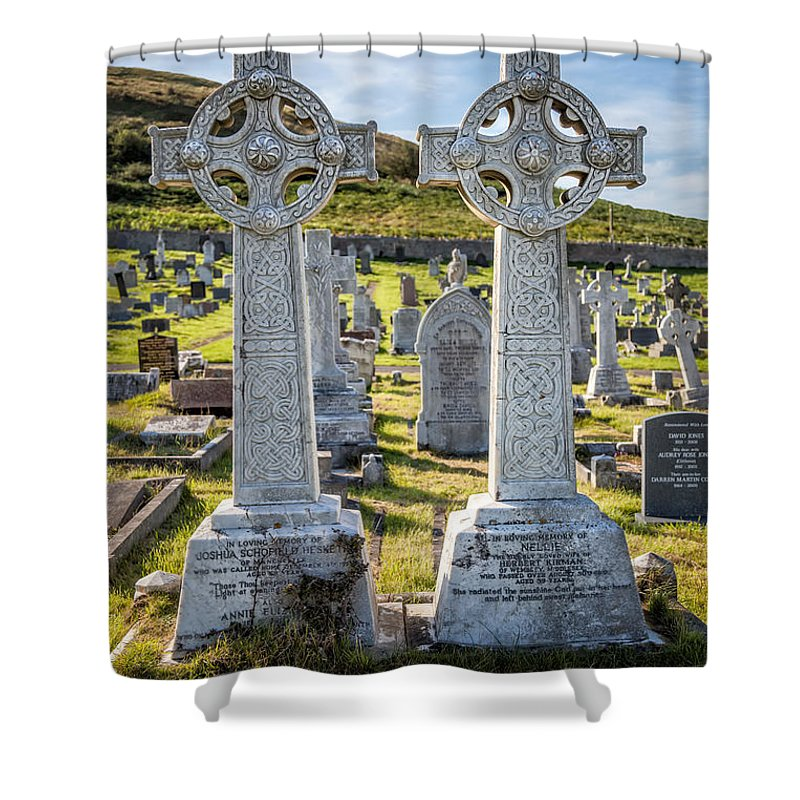 Hdr Shower Curtain featuring the photograph Celtic Crosses by Adrian Evans