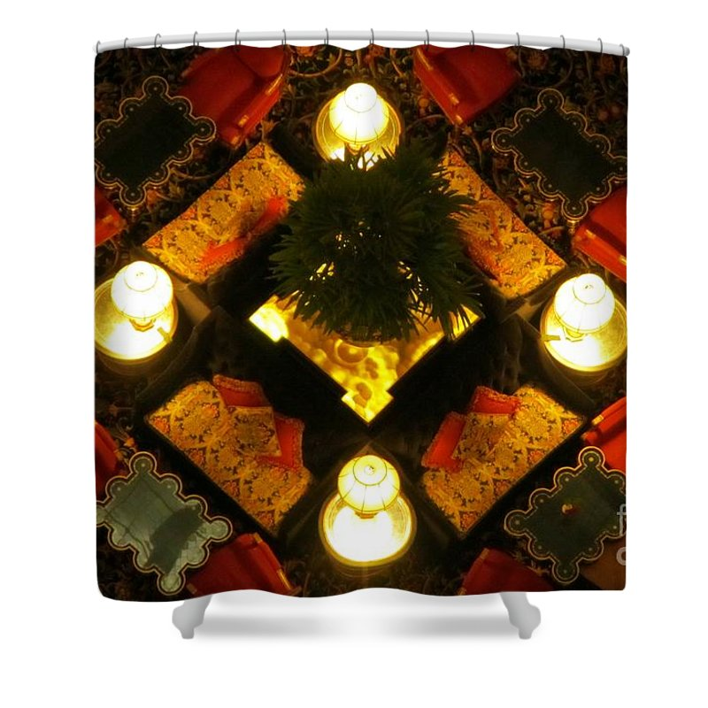 Atrium Art Prints Shower Curtain featuring the photograph Centre Of The Brown Palace Atrium by John Malone