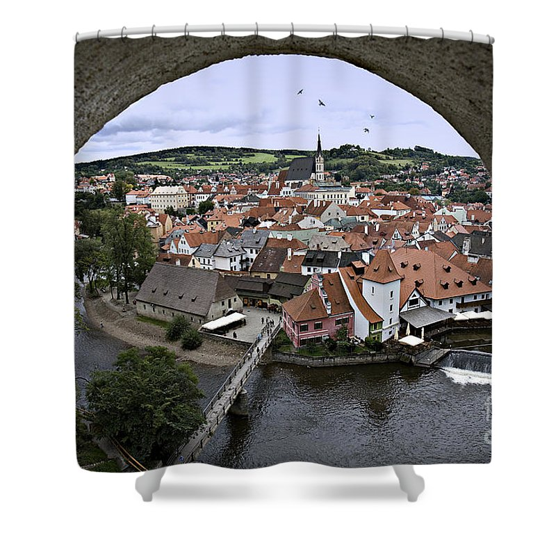 Cesky Krumlov Shower Curtain featuring the photograph Cesky Krumlov by Madeline Ellis
