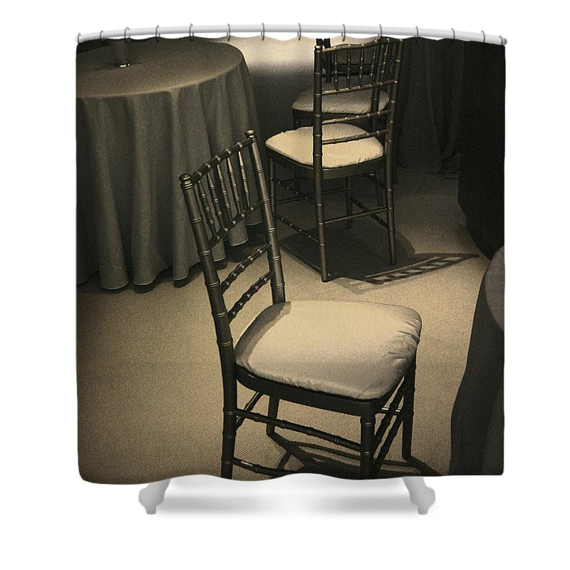 Chair Shower Curtain featuring the photograph Chairs by John Cardamone