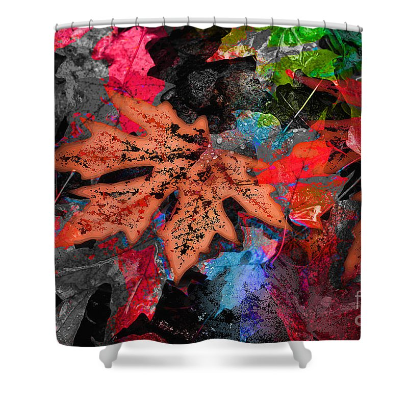 Digital Image Shower Curtain featuring the digital art Change by Yael VanGruber