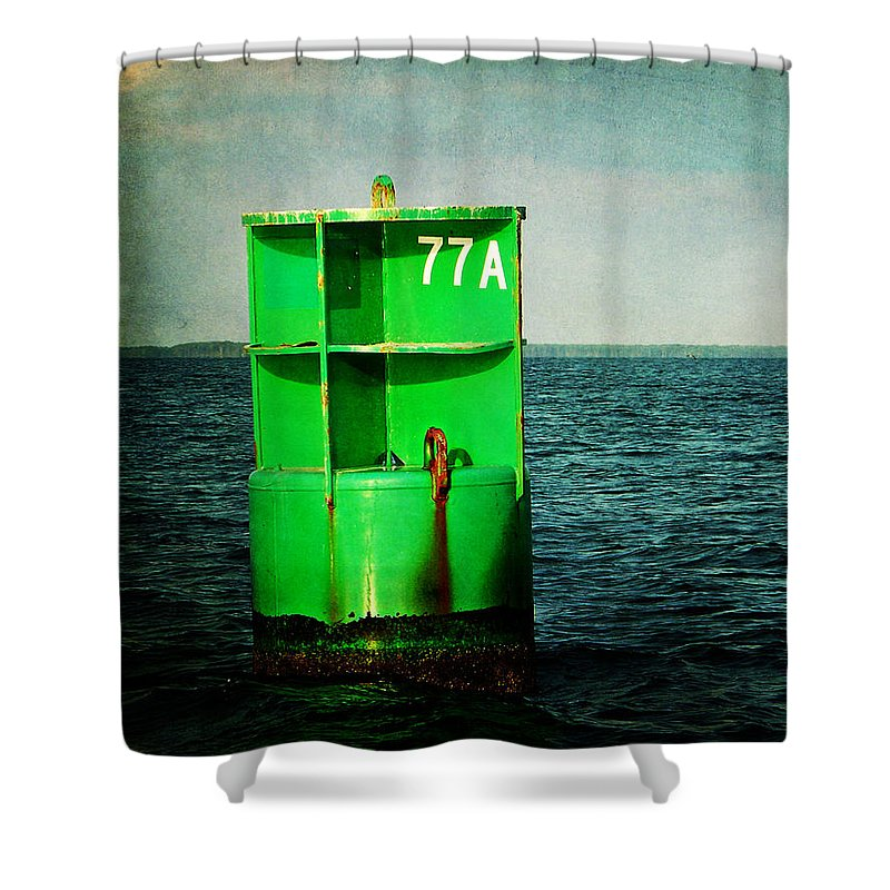 Channel Marker Shower Curtain featuring the photograph Channel Marker 77a by Rebecca Sherman