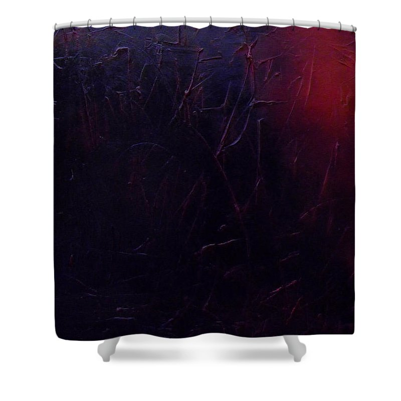 Abstract Shower Curtain featuring the painting Chaos by Sergey Bezhinets