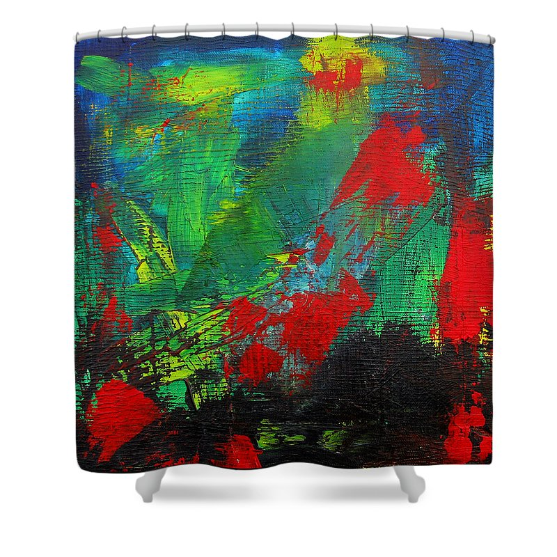 Art Shower Curtain featuring the painting Chaotic Hope by Patricia Awapara