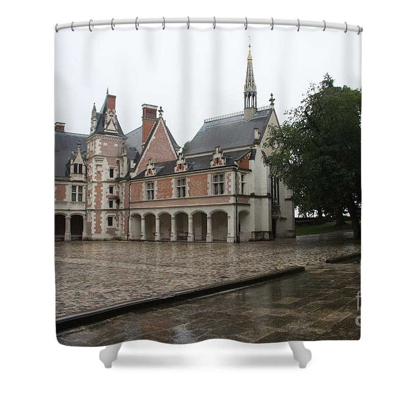 Palace Shower Curtain featuring the photograph Chapel And Courtyard Chateau Blois by Christiane Schulze Art And Photography