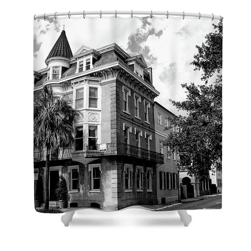 Charleston Shower Curtain featuring the photograph Charleston Corner Charleston Sc by William Dey