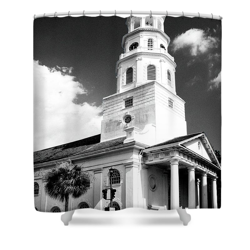 Charleston Shower Curtain featuring the photograph Charleston Layers Charleston Sc by William Dey