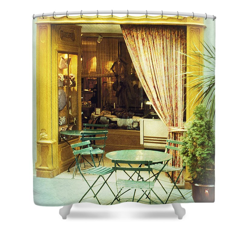 Heiko Shower Curtain featuring the photograph Charming Street Still Life by Heiko Koehrer-Wagner