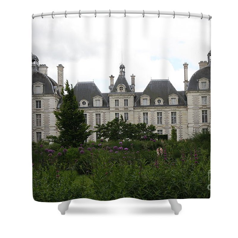 Palace Shower Curtain featuring the photograph Chateau Cheverney by Christiane Schulze Art And Photography