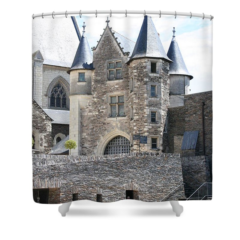 Castle Shower Curtain featuring the photograph Chateau D'angers - Chatelet by Christiane Schulze Art And Photography
