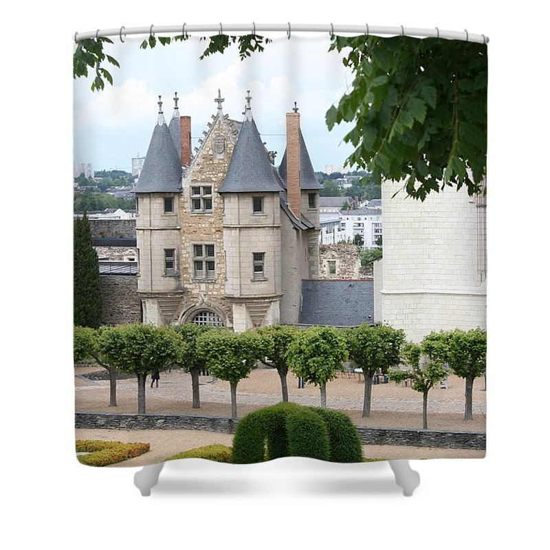 Castle Shower Curtain featuring the photograph Chateau D'angers - Chatelet View by Christiane Schulze Art And Photography
