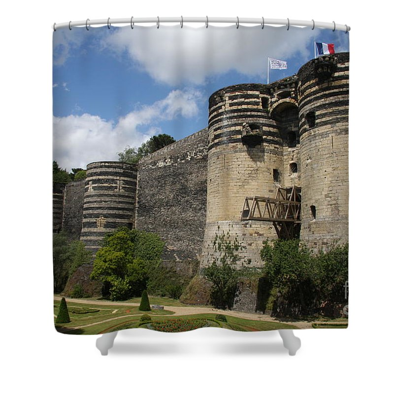 Castle Shower Curtain featuring the photograph Chateau D'angers - The Keep by Christiane Schulze Art And Photography