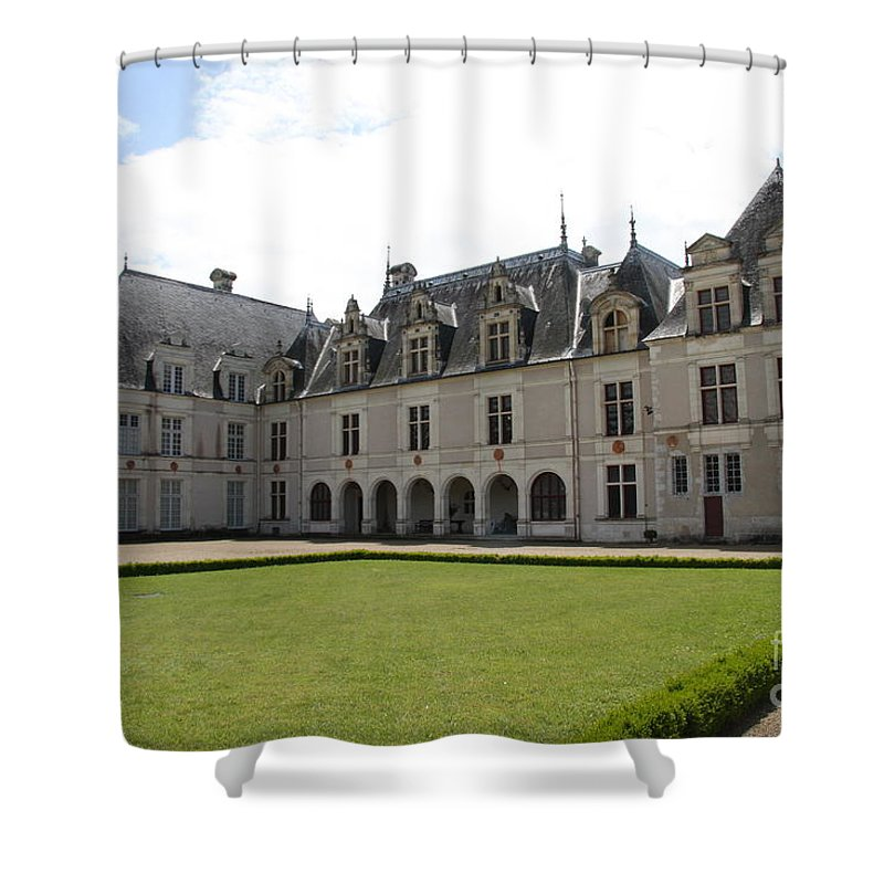 Palace Shower Curtain featuring the photograph Chateau De Beauregard Loire Valley by Christiane Schulze Art And Photography