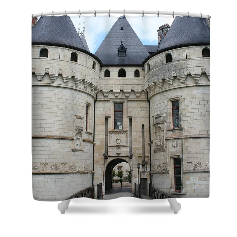 Palace Shower Curtain featuring the photograph Chateau De Chaumont - France by Christiane Schulze Art And Photography