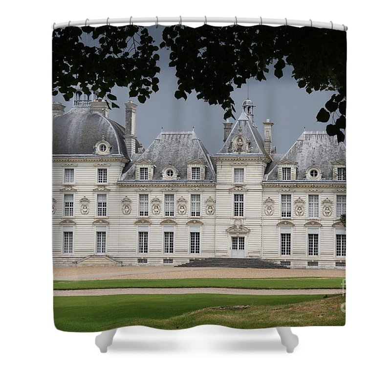 Palace Shower Curtain featuring the photograph Chateau De Cheverny - France by Christiane Schulze Art And Photography