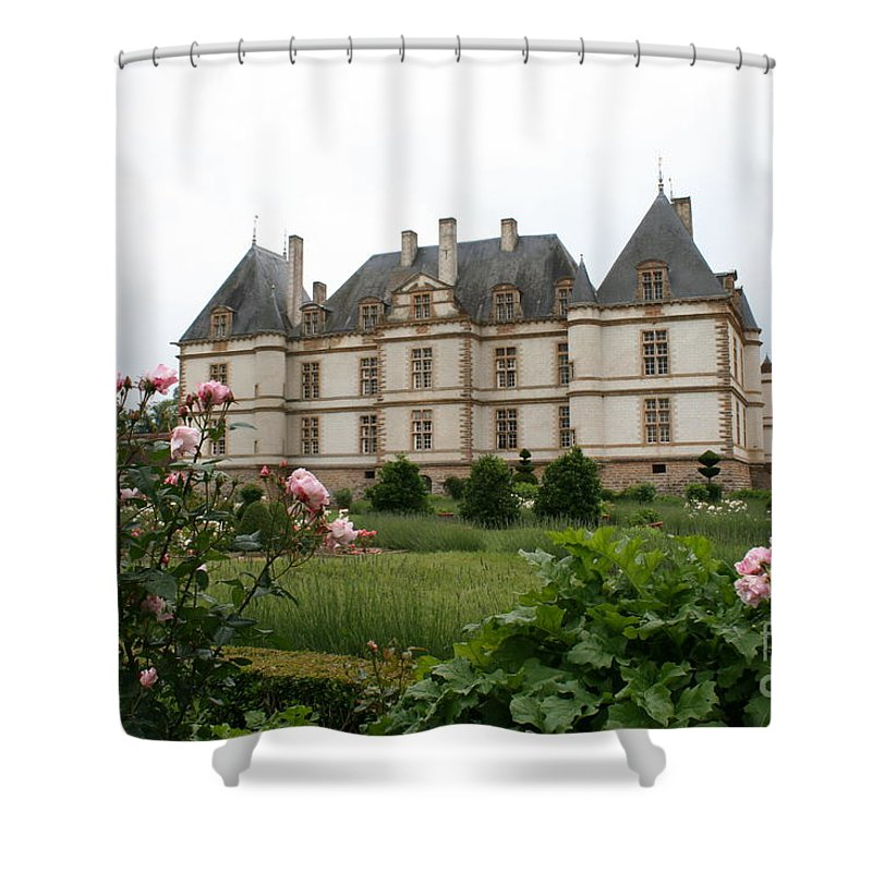 Palace Shower Curtain featuring the photograph Chateau De Cormatin Garden by Christiane Schulze Art And Photography