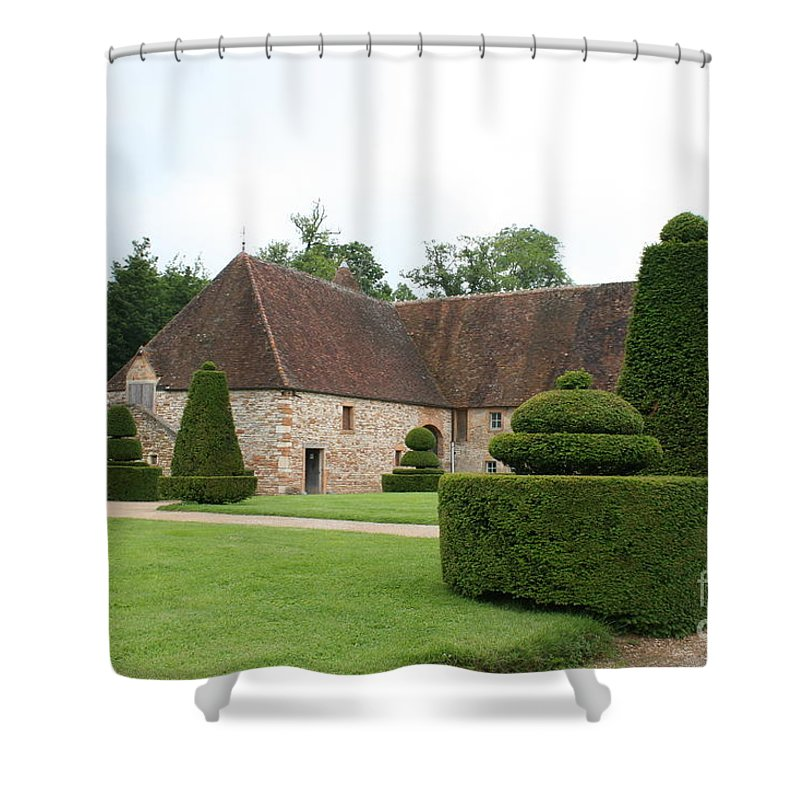 Stable Shower Curtain featuring the photograph Chateau De Cormatin Stable by Christiane Schulze Art And Photography