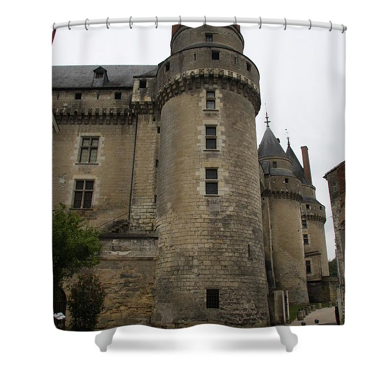 Castle Shower Curtain featuring the photograph Chateau de Langeais - France by Christiane Schulze Art And Photography