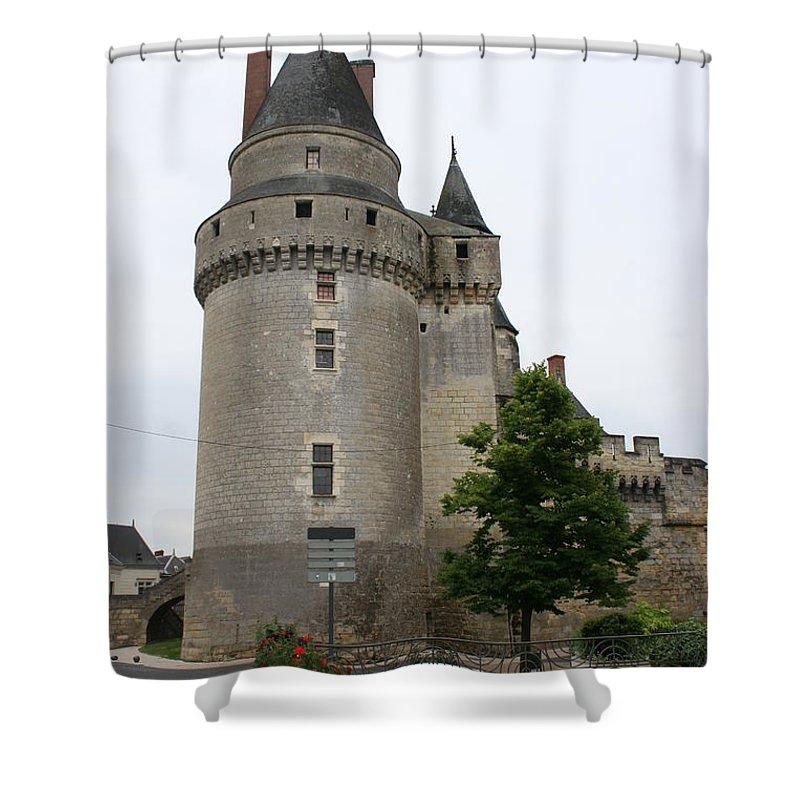 Castle Shower Curtain featuring the photograph Chateau De Langeais Tower by Christiane Schulze Art And Photography