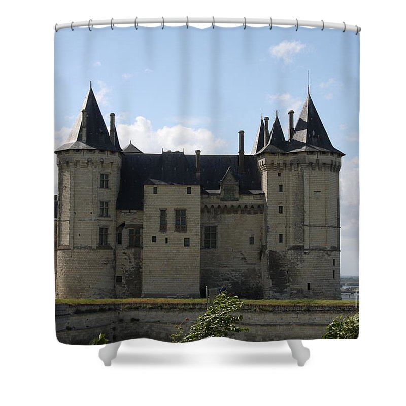 Castle Shower Curtain featuring the photograph Chateau Saumur - France by Christiane Schulze Art And Photography