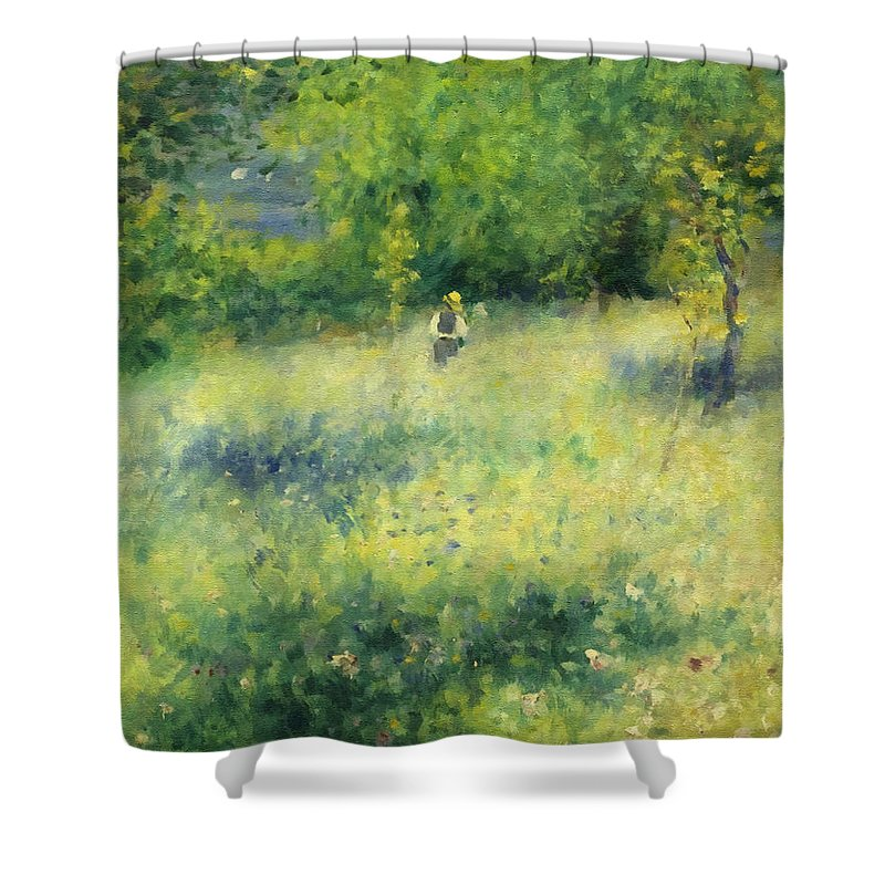 Chatou Shower Curtain featuring the painting Chatou After Renoir by Georgiana Romanovna