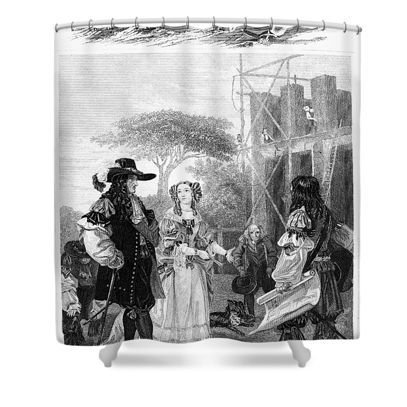 1682 Shower Curtain featuring the photograph Chelsea Hospital, 1682 by Granger