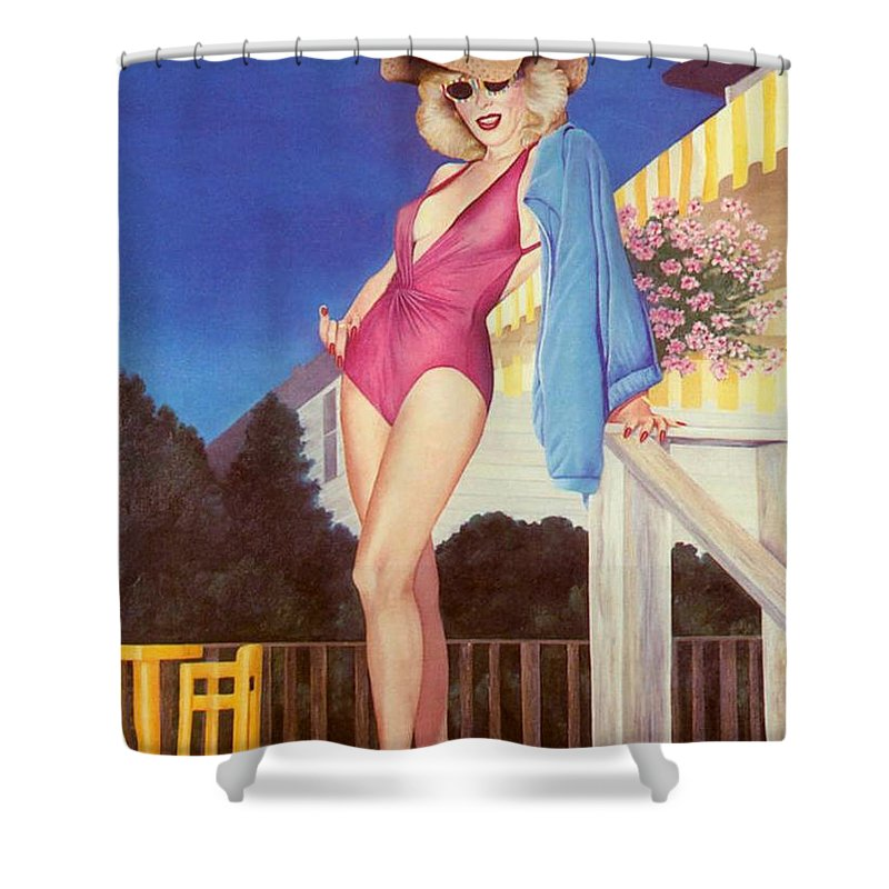 Sensual Shower Curtain featuring the painting Cherry Hill New Jersey by Mary Ann Leitch
