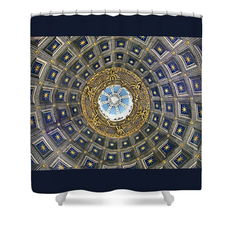 Cherubic Cupola Shower Curtain featuring the photograph Cherubic Cupola by Ellen Henneke