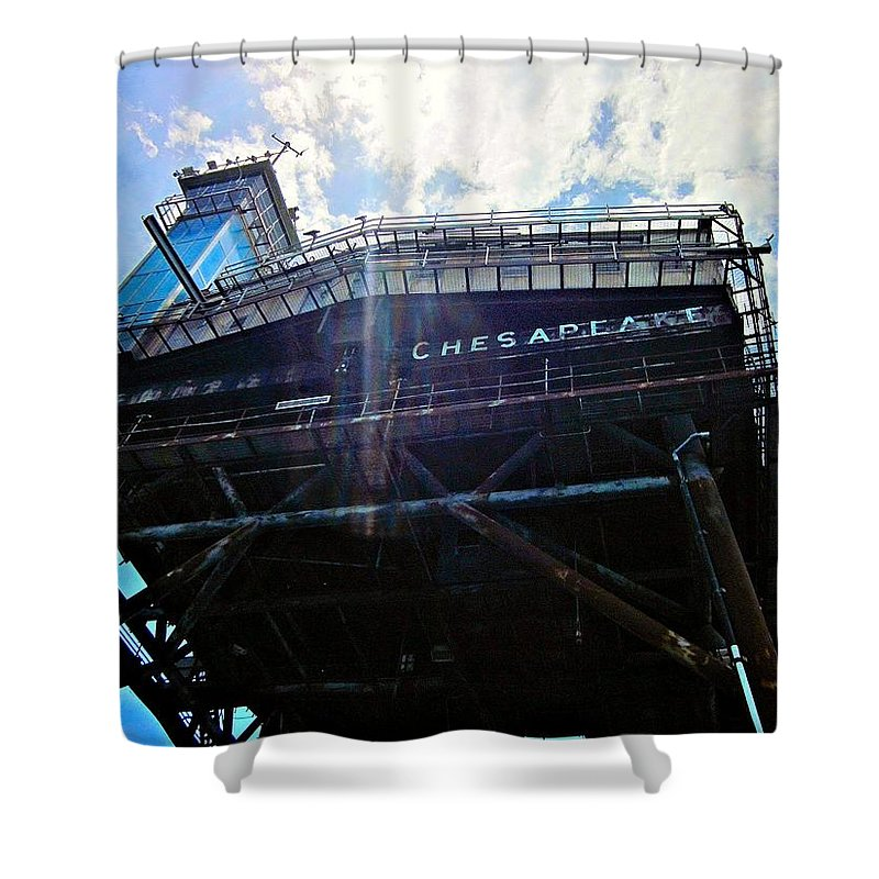 Lighthouse Shower Curtain featuring the photograph Chesapeake Lighthouse 2 by Emma Motte